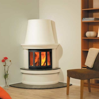 Housing fireplace wall corner Geilo + Ni 22