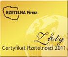Złoty Certyfikat Rzetelna Firma