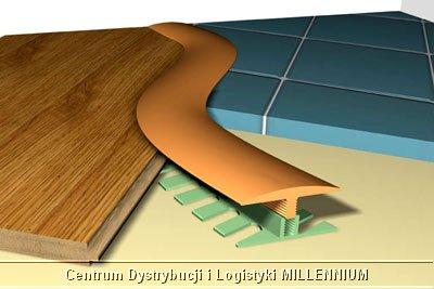 przykładowy montaż listwy podłogowej STEP FLEX