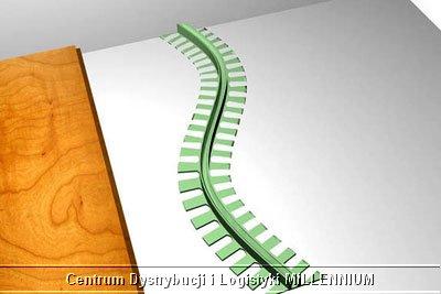 montaż listwy podłogowej STEP FLEX etap 1