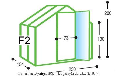 Szklarnia ogrodowa aluminiowa F2 do samodzielnego montażu
