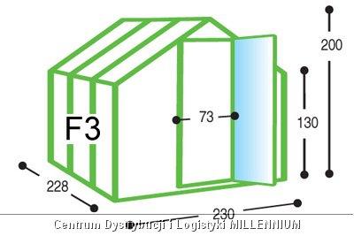 Szklarnia ogrodowa aluminiowa F3 do samodzielnego montażu