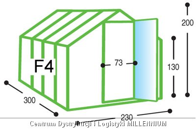 Szklarnia ogrodowa aluminiowa F4 do samodzielnego montażu