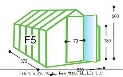 Szklarnia ogrodowa aluminiowa F5 do samodzielnego montażu