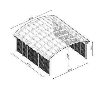 Garaż Ogrodowy Drewniany Na 2 Auta Wiata Ogrodowa 6 X 52 M Na